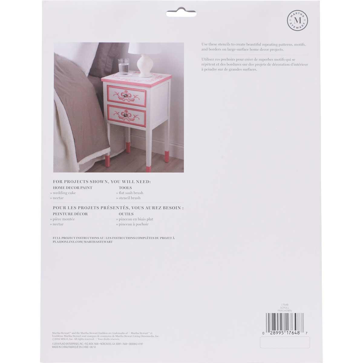 Martha Stewart® Laser-Cut Stencil - Scroll