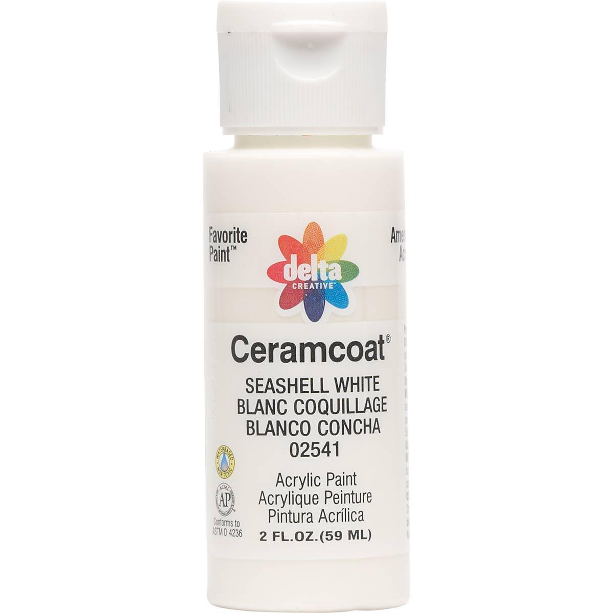 Delta Ceramcoat Acrylic Paint Seashell White 2 Oz