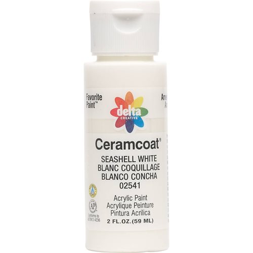 Delta Ceramcoat ® Acrylic Paint - Seashell White, 2 oz.