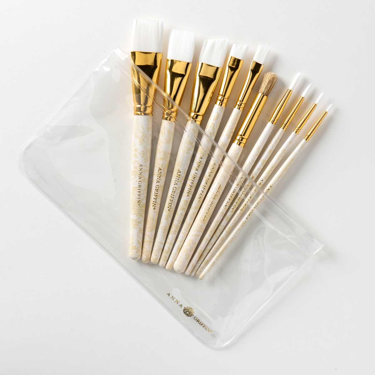 Anna Griffin ® Basic Brush Set, 10 piece