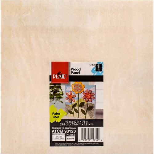 "Plaid ® Wood Surfaces - Canvas Panel, 10"" x 10"" - 12752"