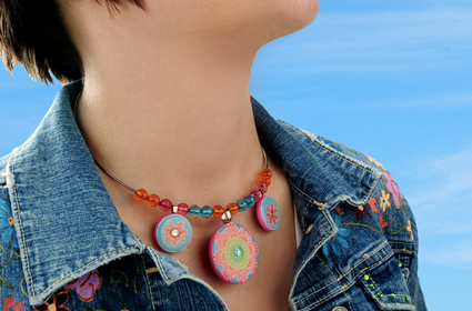 Bright Blooms Choker Necklace
