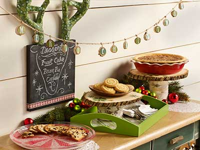 Holiday Dessert Tablescape
