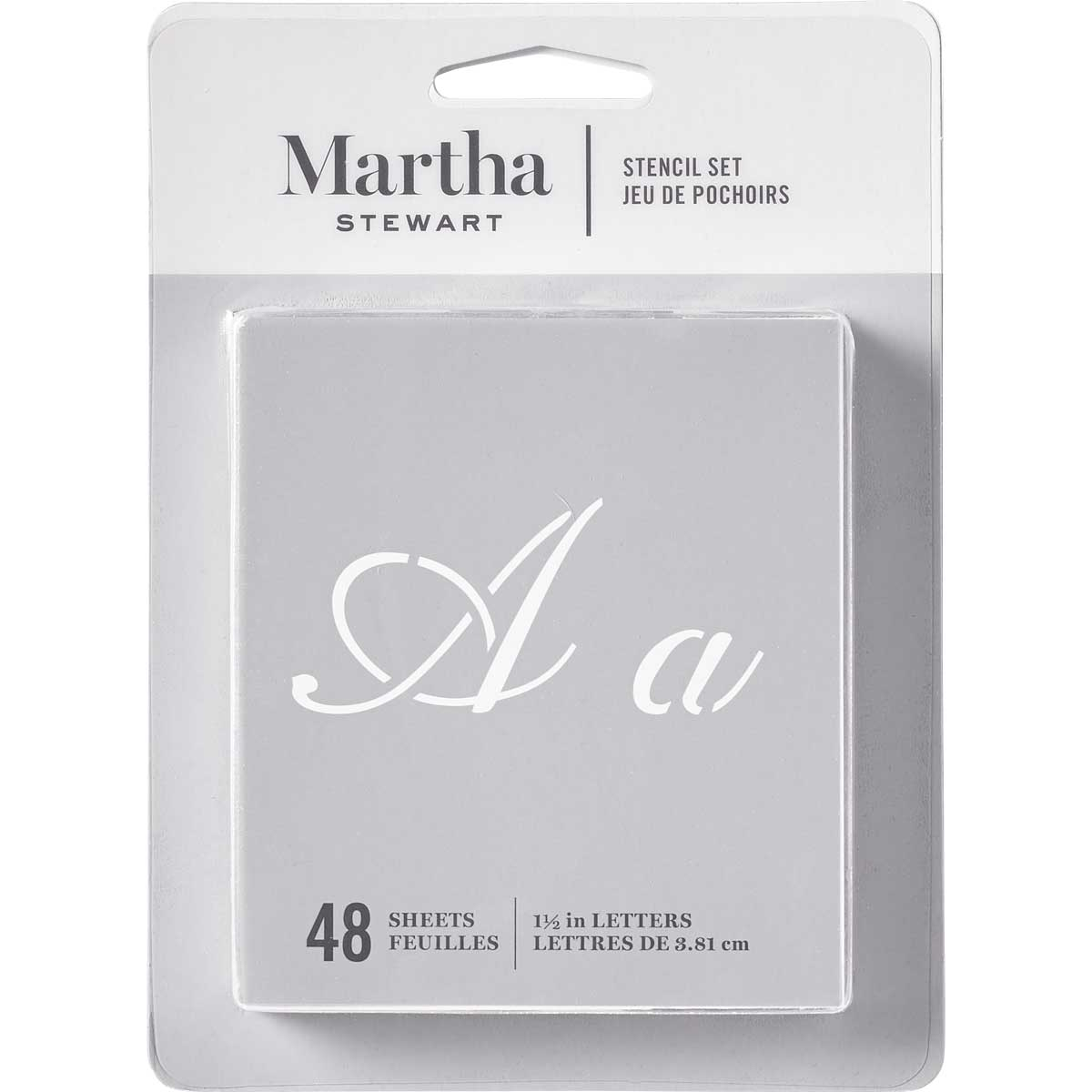 Martha Stewart® Fancy Alphabet  Stencil Set 48pc