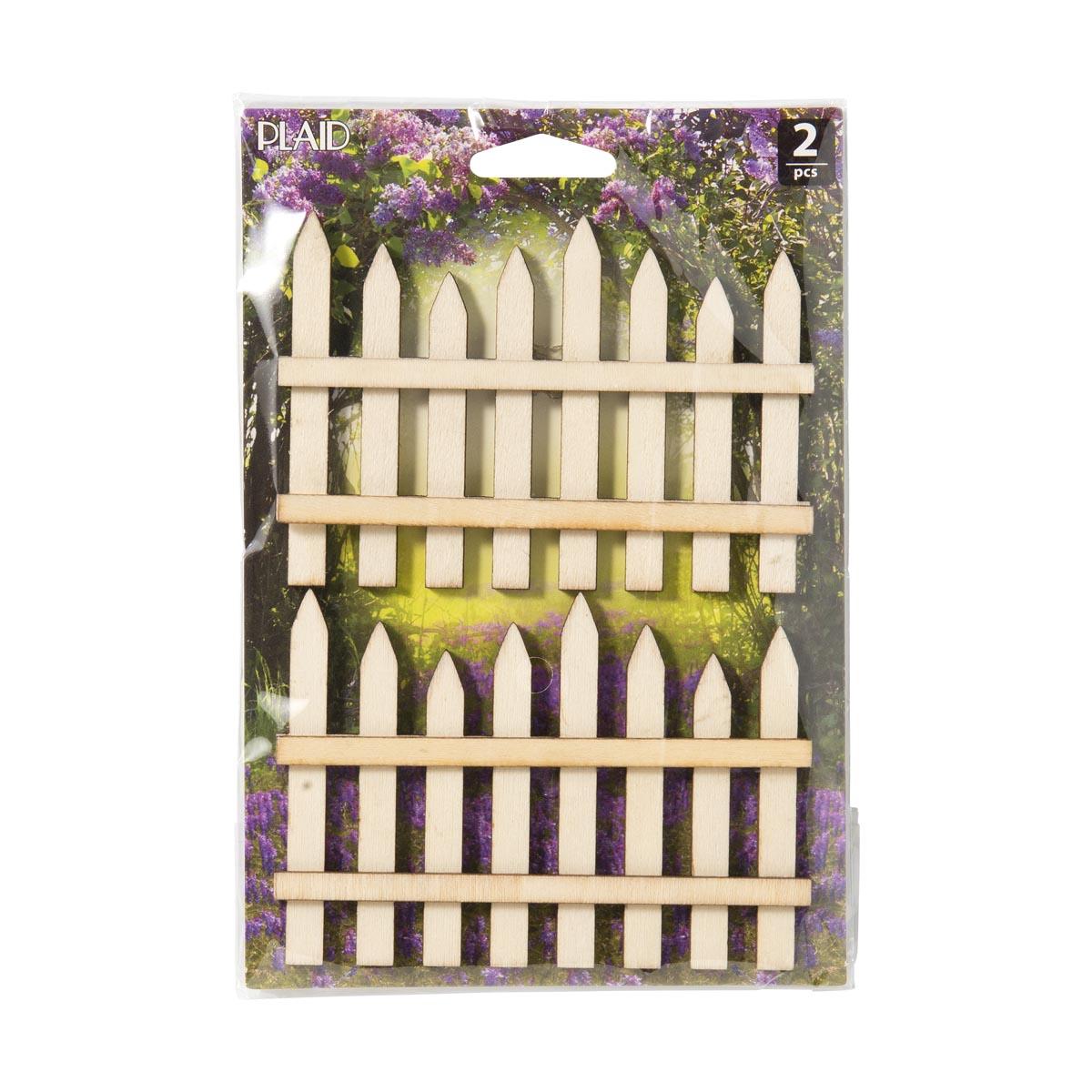 Plaid ® Wood Surfaces - Fairy Garden - Fence 2 pc.