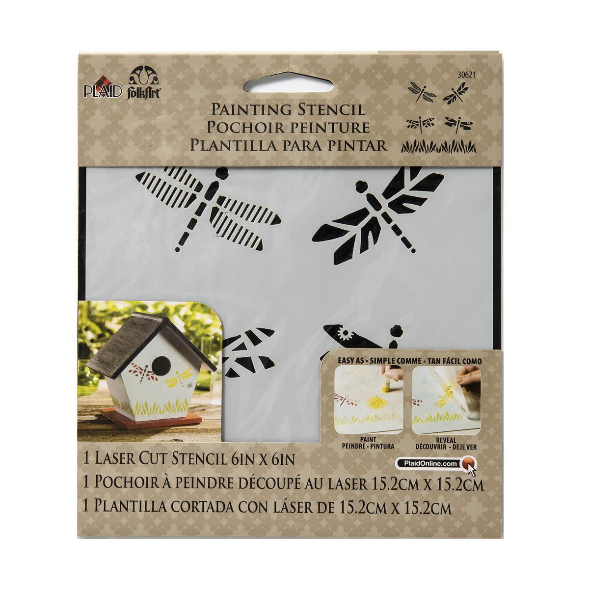 FolkArt ® Painting Stencils - Small - Dragonflies