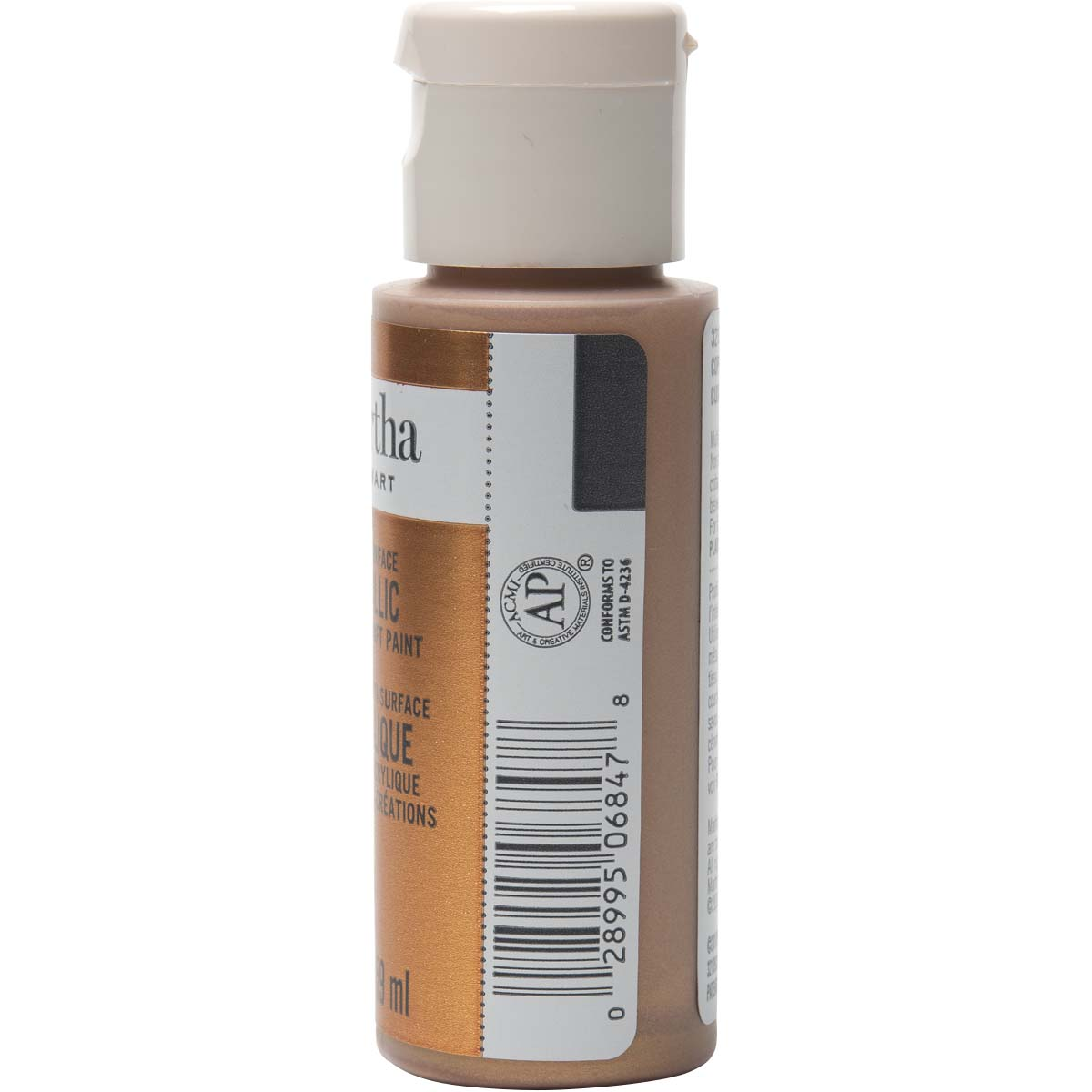 Martha Stewart ® Multi-Surface Metallic Acrylic Craft Paint - Copper, 2 oz.