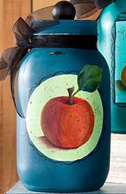 Painted Apple Canning Jar