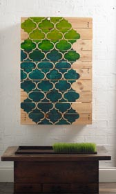 Stenciled Pallet Art DIY