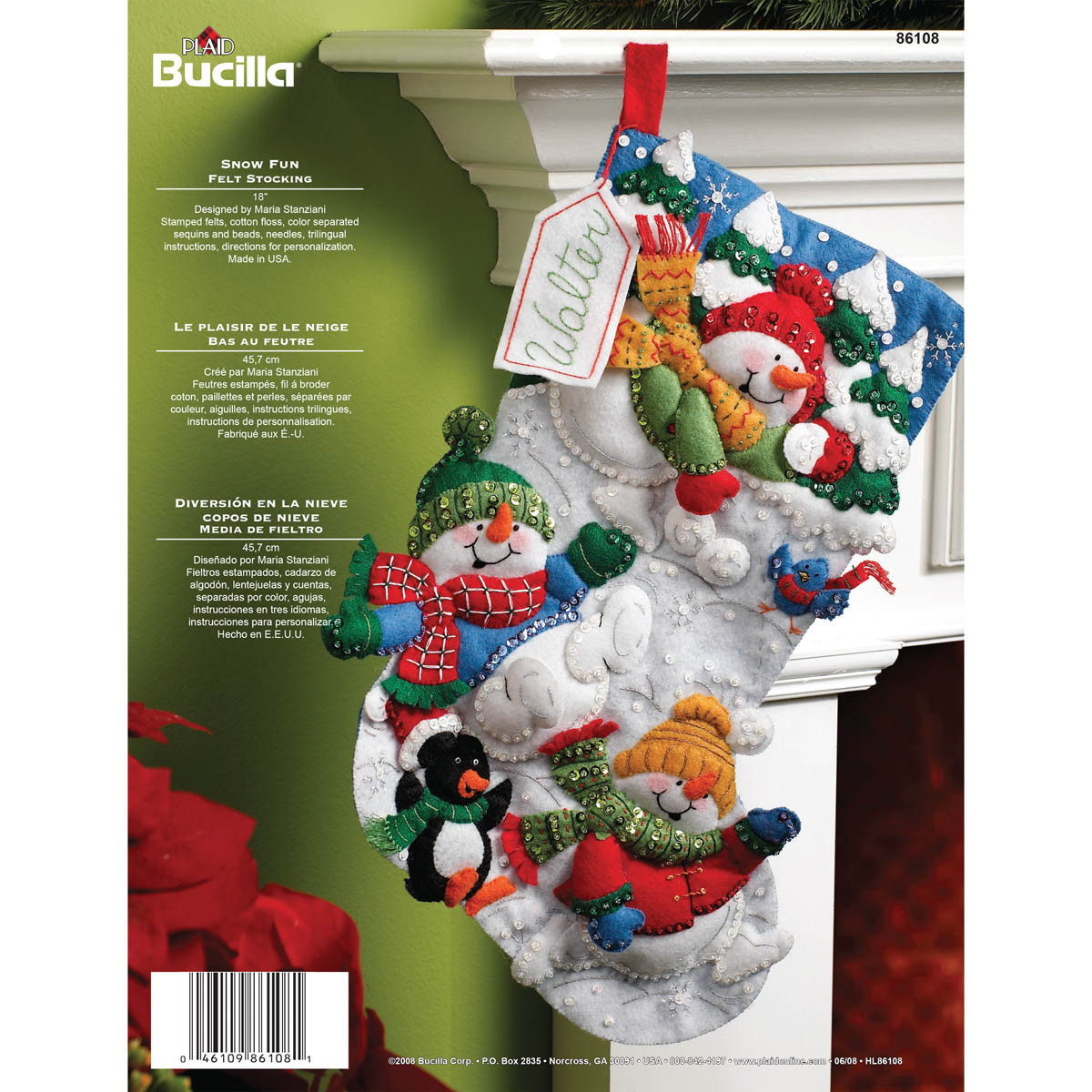 Bucilla ® Seasonal - Felt - Stocking Kits - Snow Fun - 86108