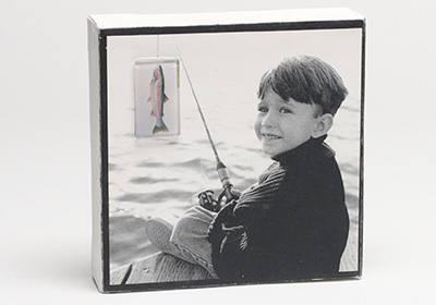 Little Fisherman Photo Transfer Canvas
