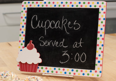 Cupcake Chalkboard / Message Board
