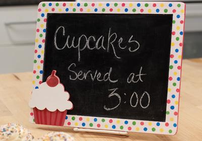 Cupcake Chalkboard / Message Board