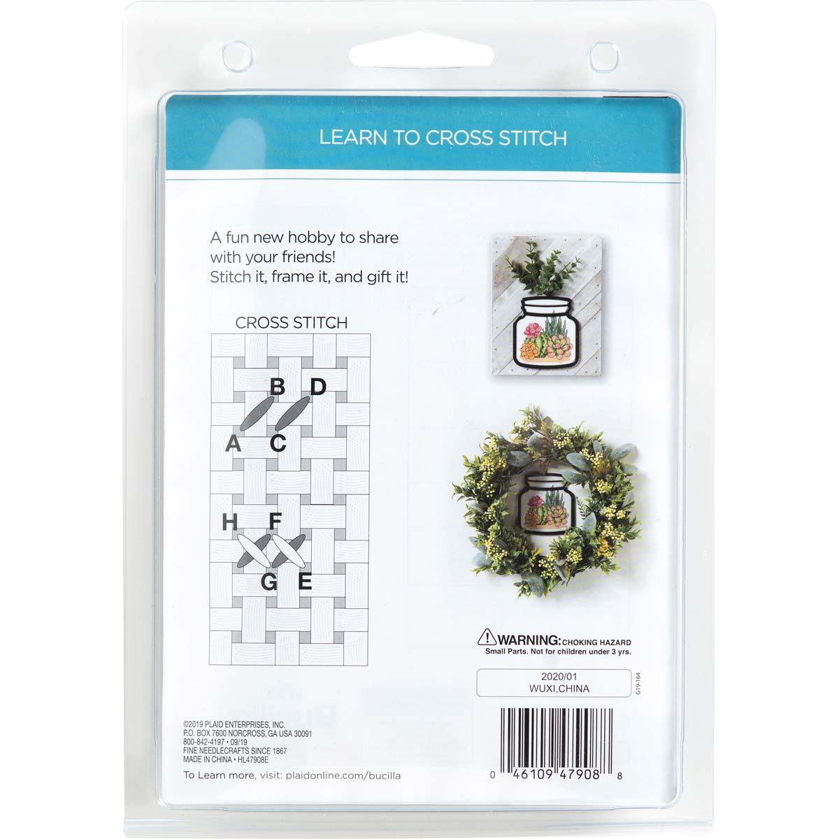 Bucilla ® My 1st Stitch™ - Counted Cross Stitch Kits - Terrarium Frame - Cactus - 47908E