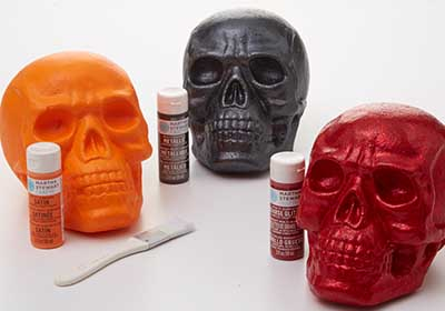 Painted Skulls for Halloween