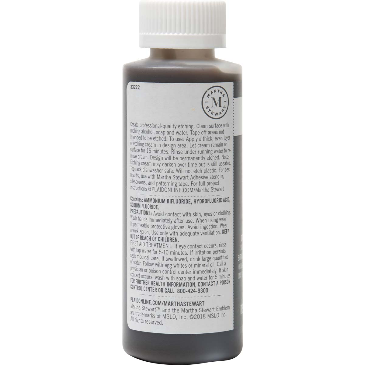 Martha Stewart ® Glass Etch Cream & Brush, 4 oz. - 33222
