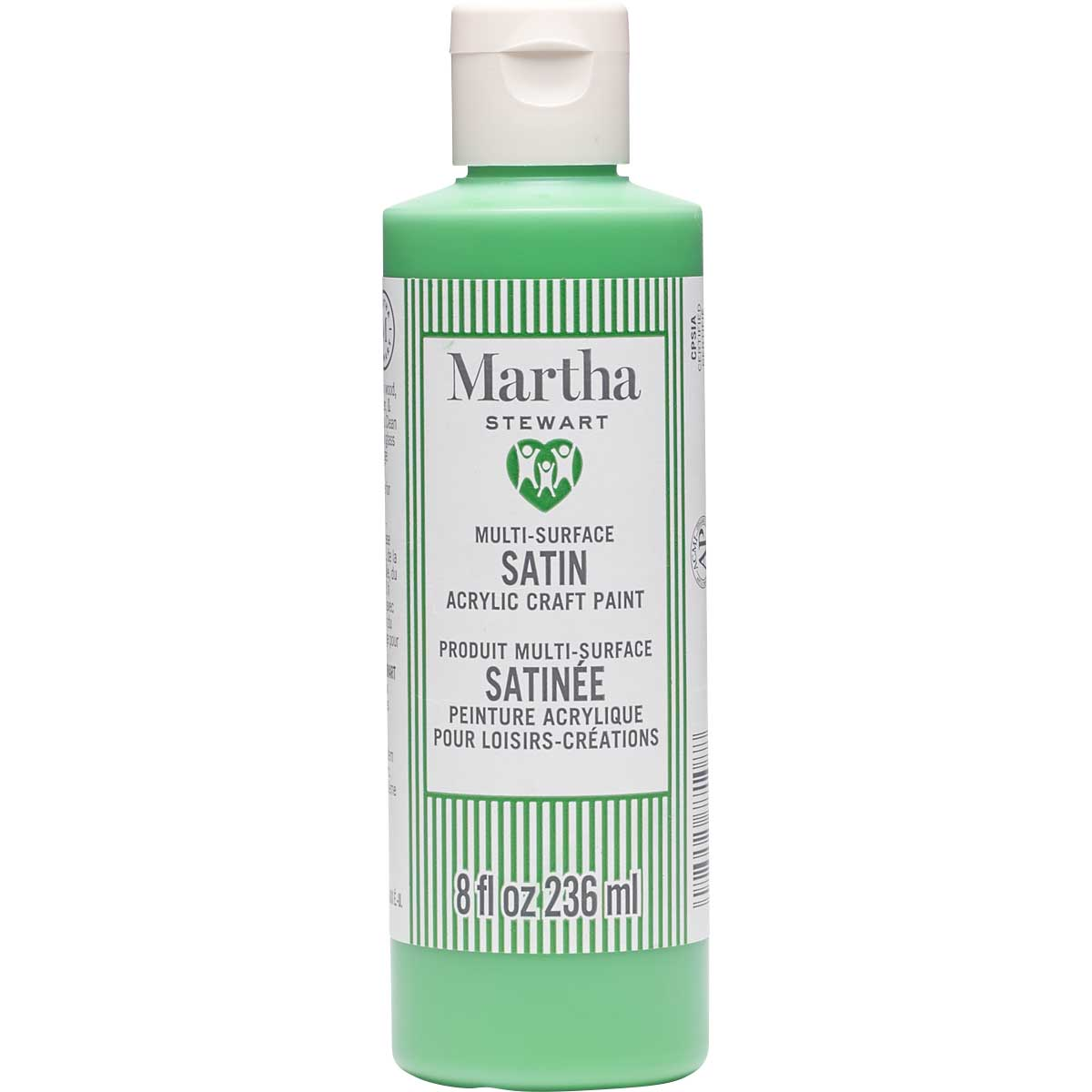 Martha Stewart ® Multi-Surface Satin Acrylic Craft Paint CPSIA - Swing Set Green, 8 oz. - 77108