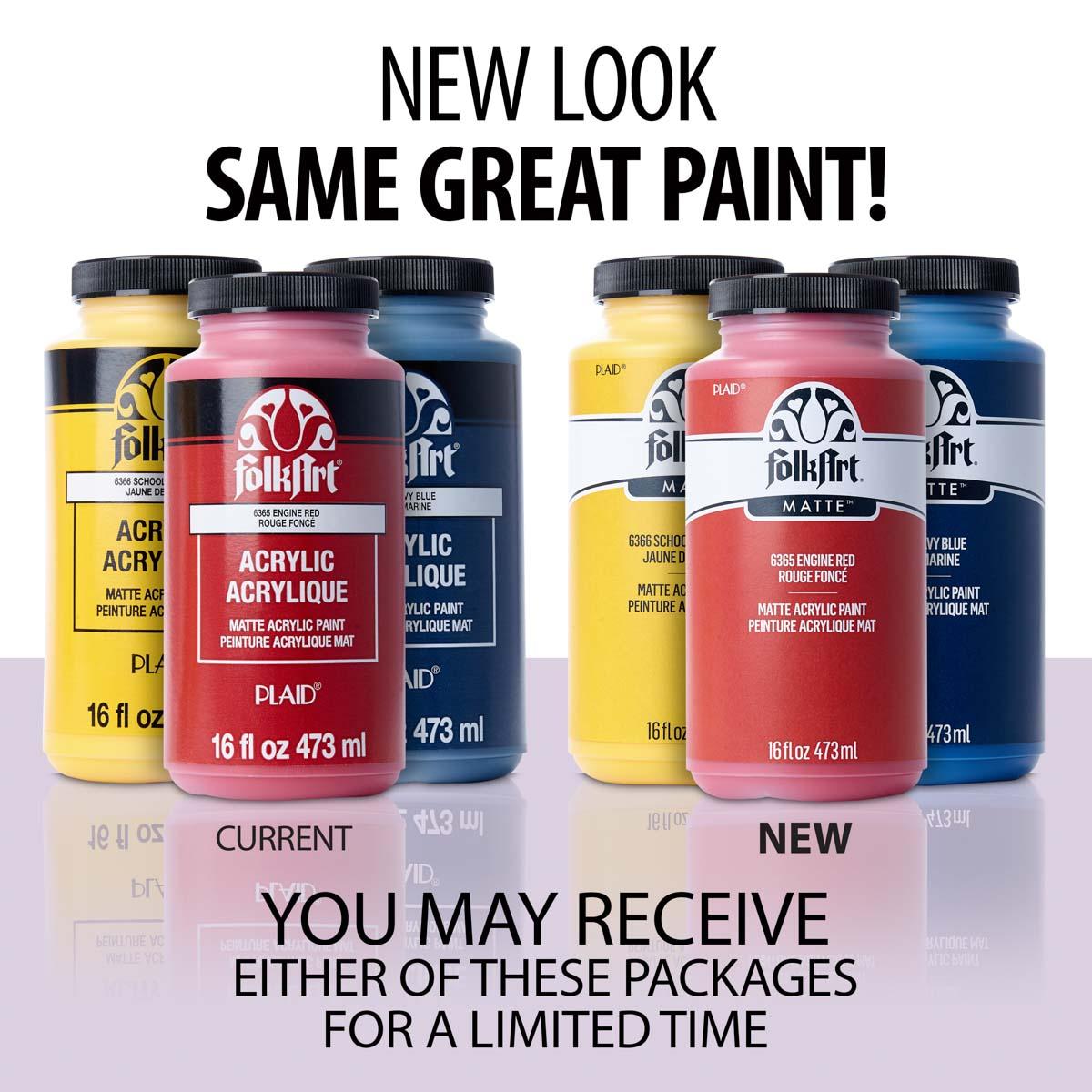 FolkArt ® Acrylic Colors - Engine Red, 16 oz. - 6365