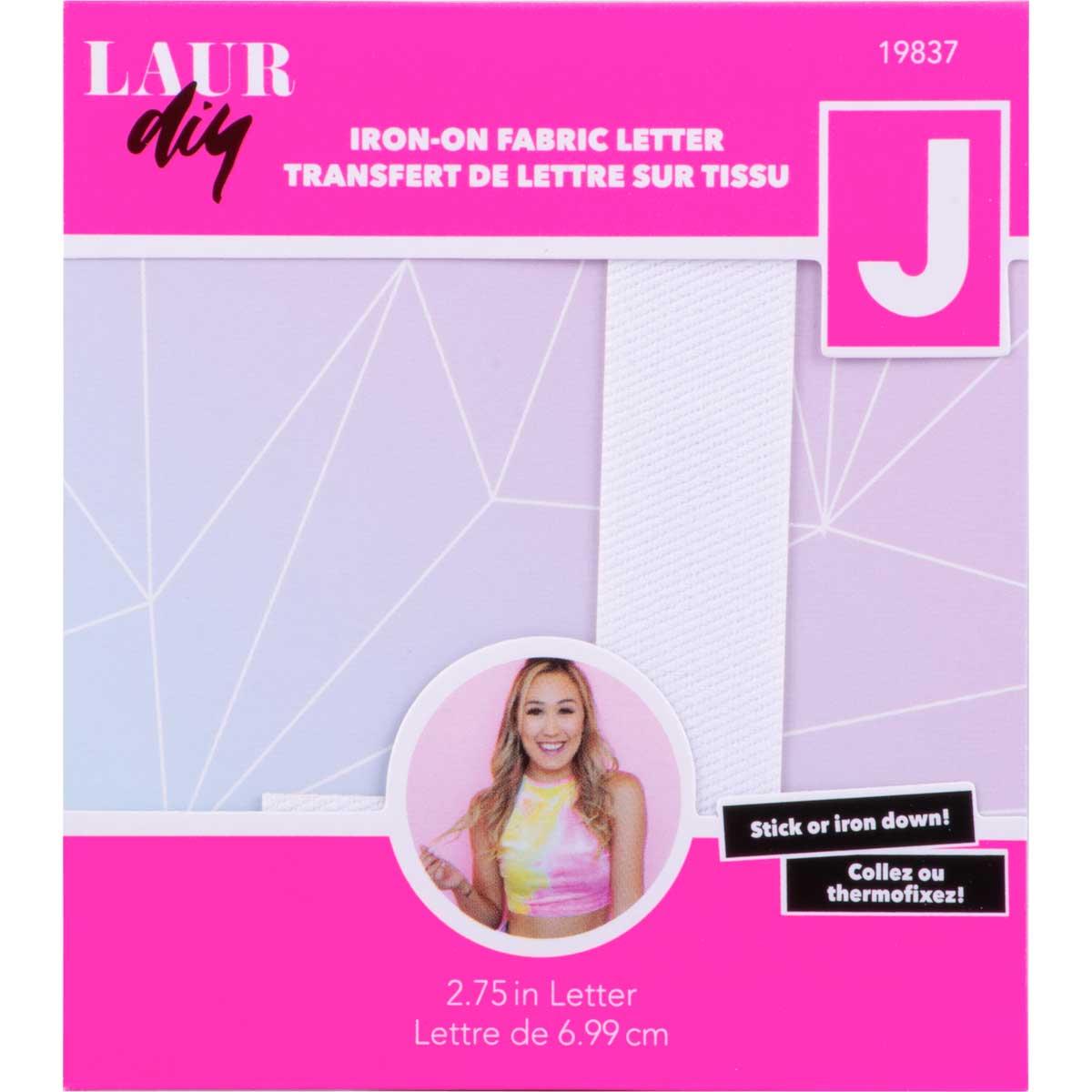 LaurDIY ® Iron-on Fabric Letters - J