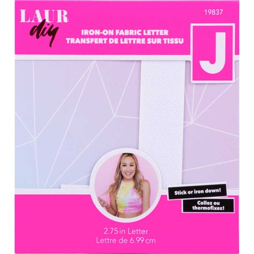 LaurDIY ® Iron-on Fabric Letters - J