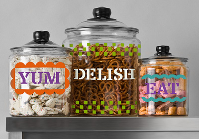 Colorful l Fun Glass Canisters