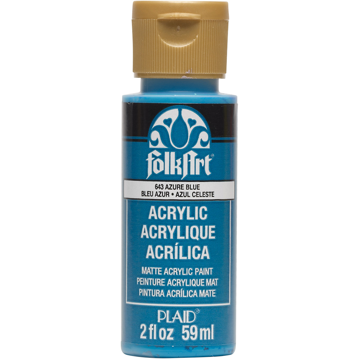 FolkArt ® Acrylic Colors - Azure Blue, 2 oz.