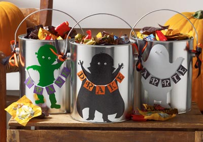 DIY Halloween Party Favor - Paint Can Candy Pails