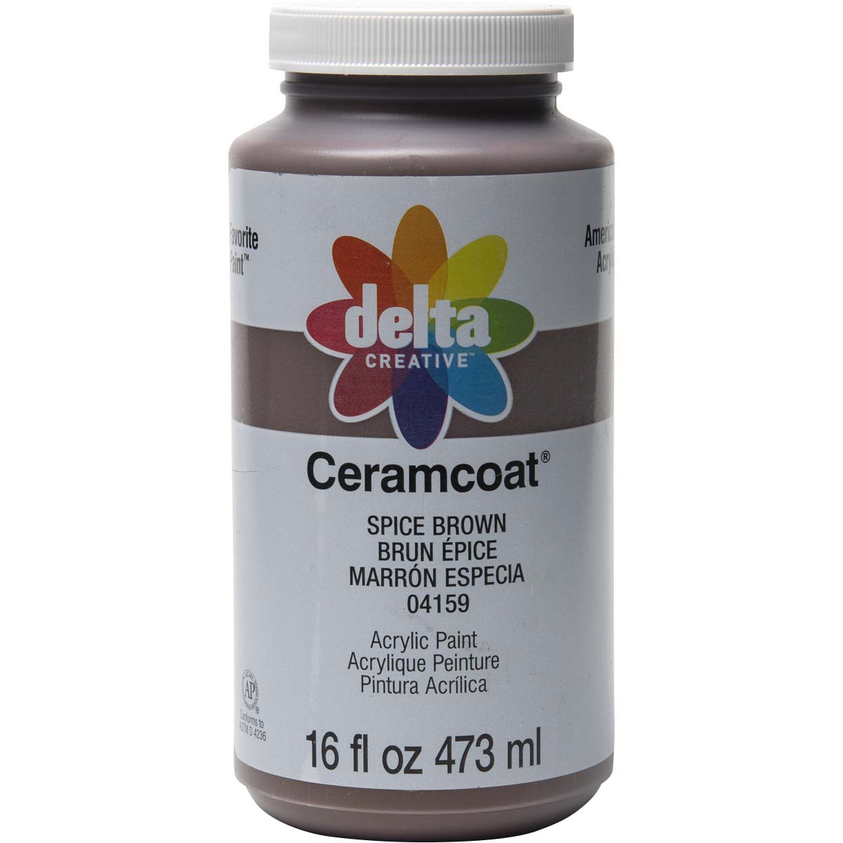 Delta Ceramcoat ® Acrylic Paint - Spice Brown, 16 oz. - 04159