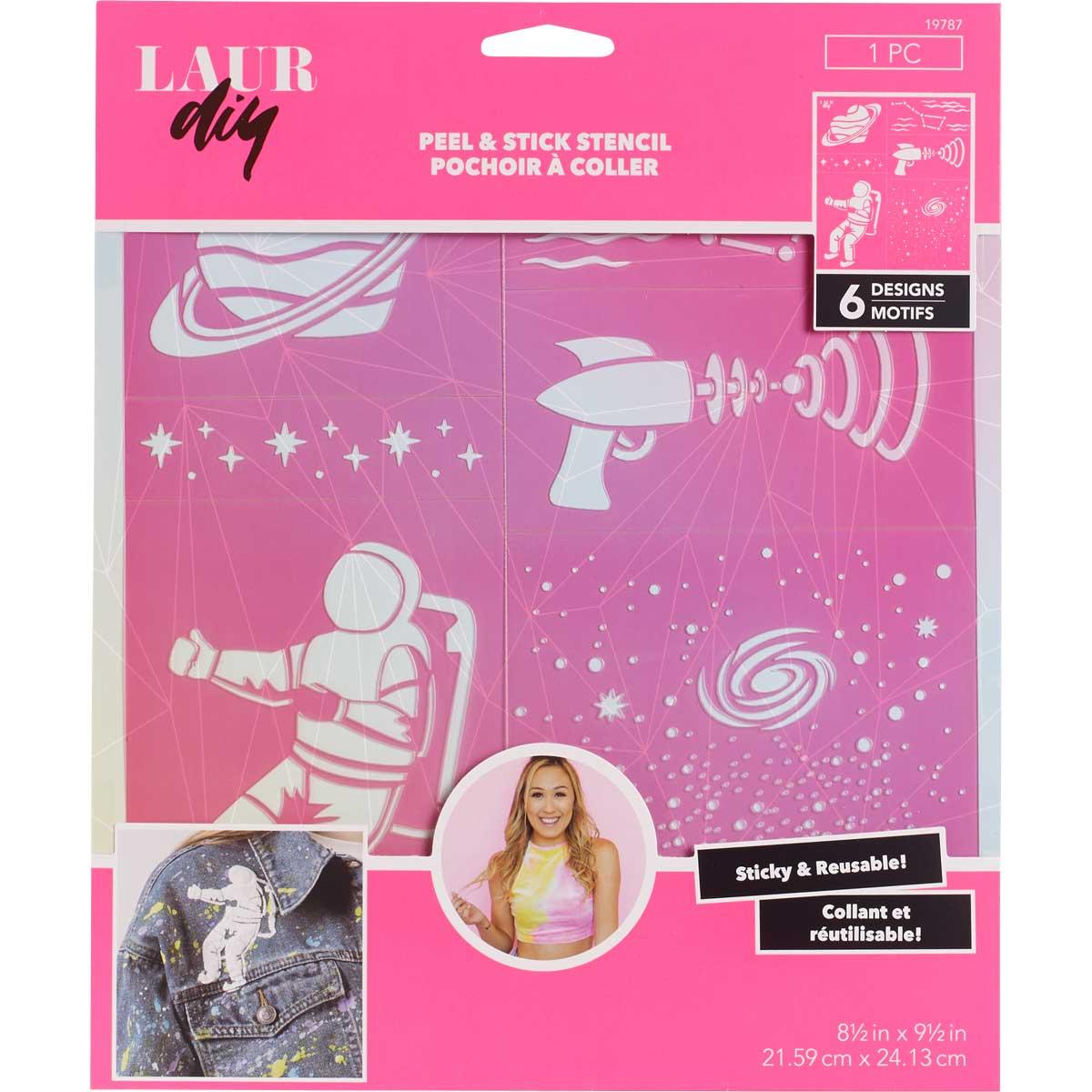 LaurDIY ® Peel & Stick Stencils - Large - Galaxy Gurl