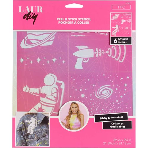 LaurDIY ® Peel & Stick Stencils - Large - Galaxy Gurl