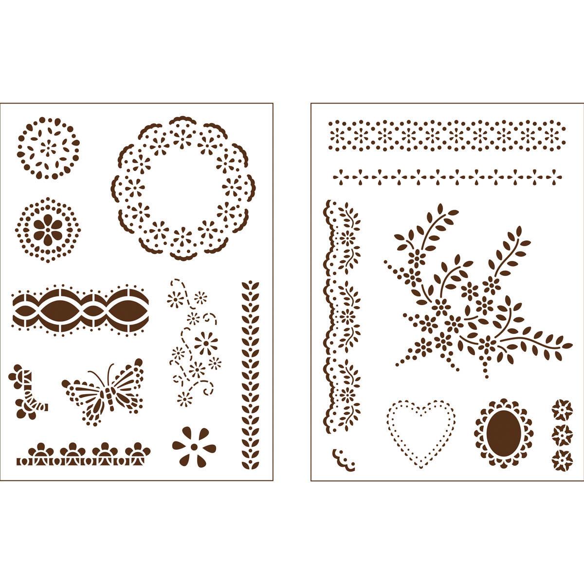 Martha Stewart ® Adhesive Stencil - Fair Isle Dots