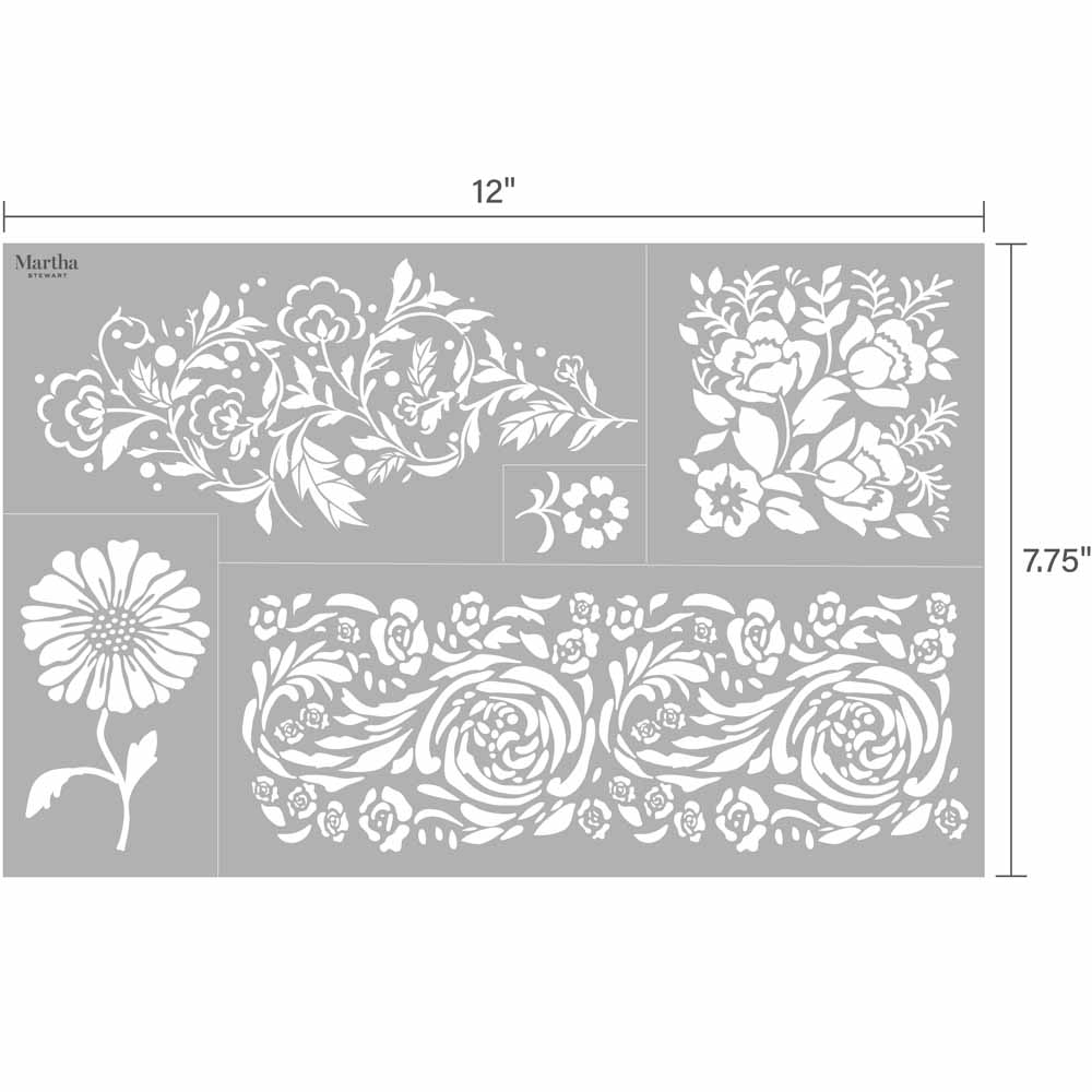 Martha Stewart® Adhesive Stencil - Elegant Floral
