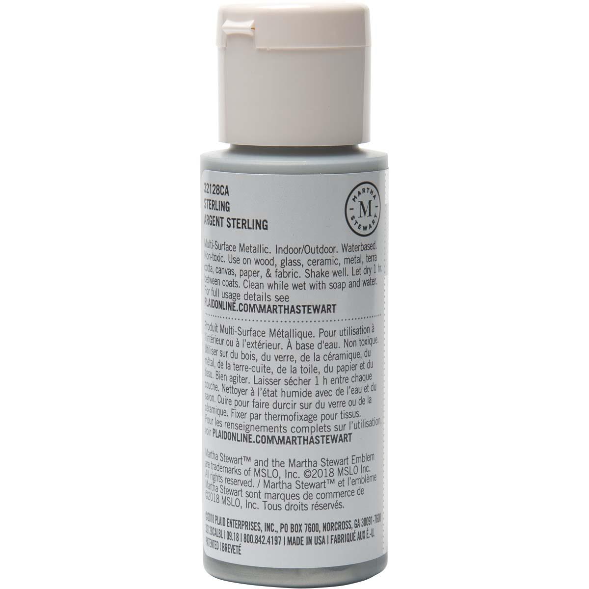 Martha Stewart® 2oz Multi-Surface Metallic Acrylic Craft Paint - Sterling