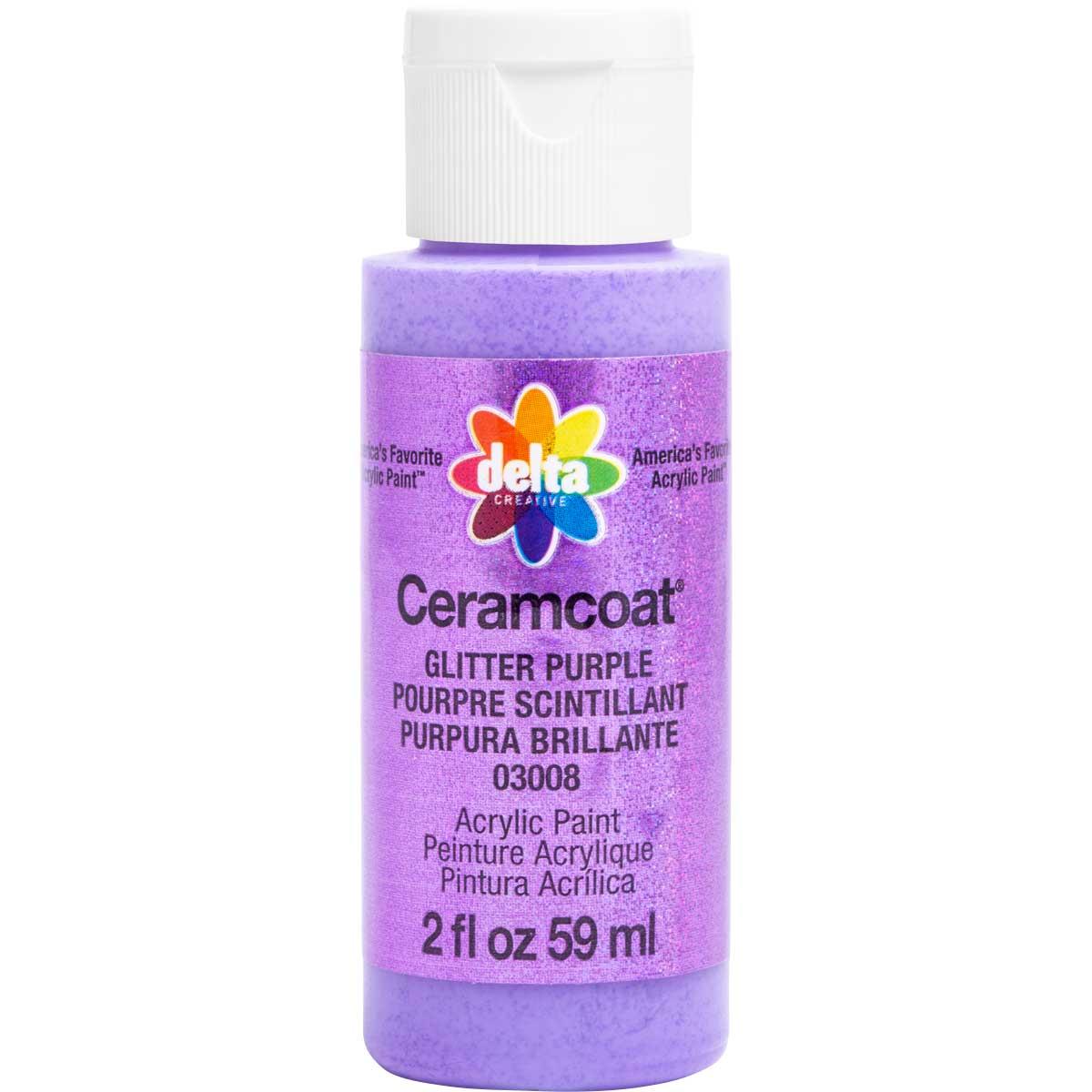 Delta Ceramcoat ® Acrylic Paint - Glitter Purple, 2 oz. - 03008