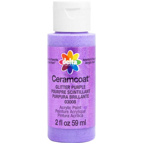 Delta Ceramcoat ® Acrylic Paint - Glitter Purple, 2 oz.