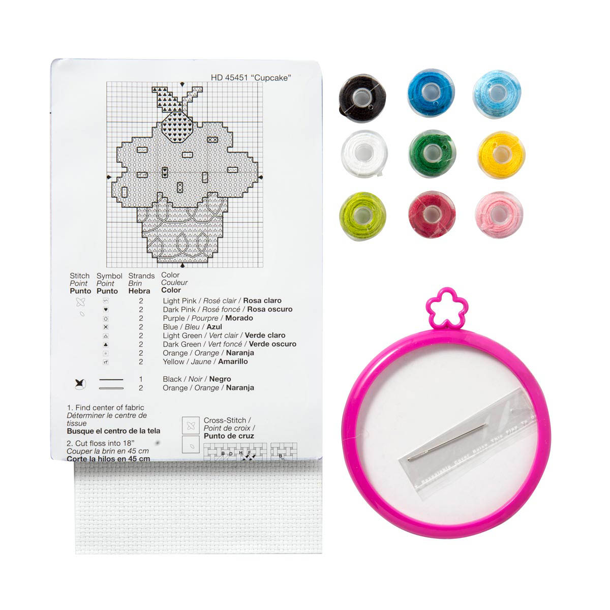 Bucilla ® My 1st Stitch™ - Counted Cross Stitch Kits - Mini - Cupcake