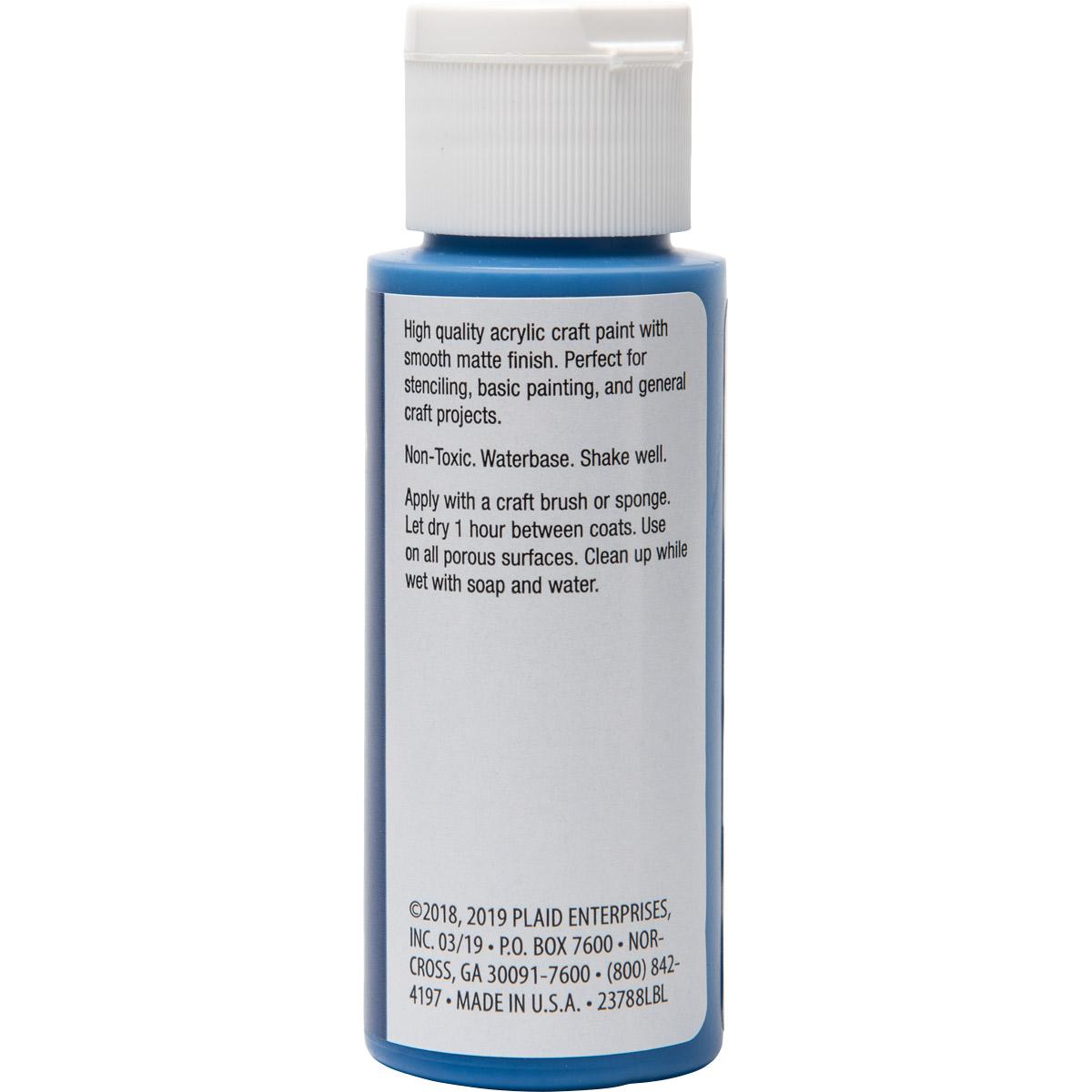 Plaid ® Painter's Palette™ Acrylic Paint - Blue, 2 oz. - 23788