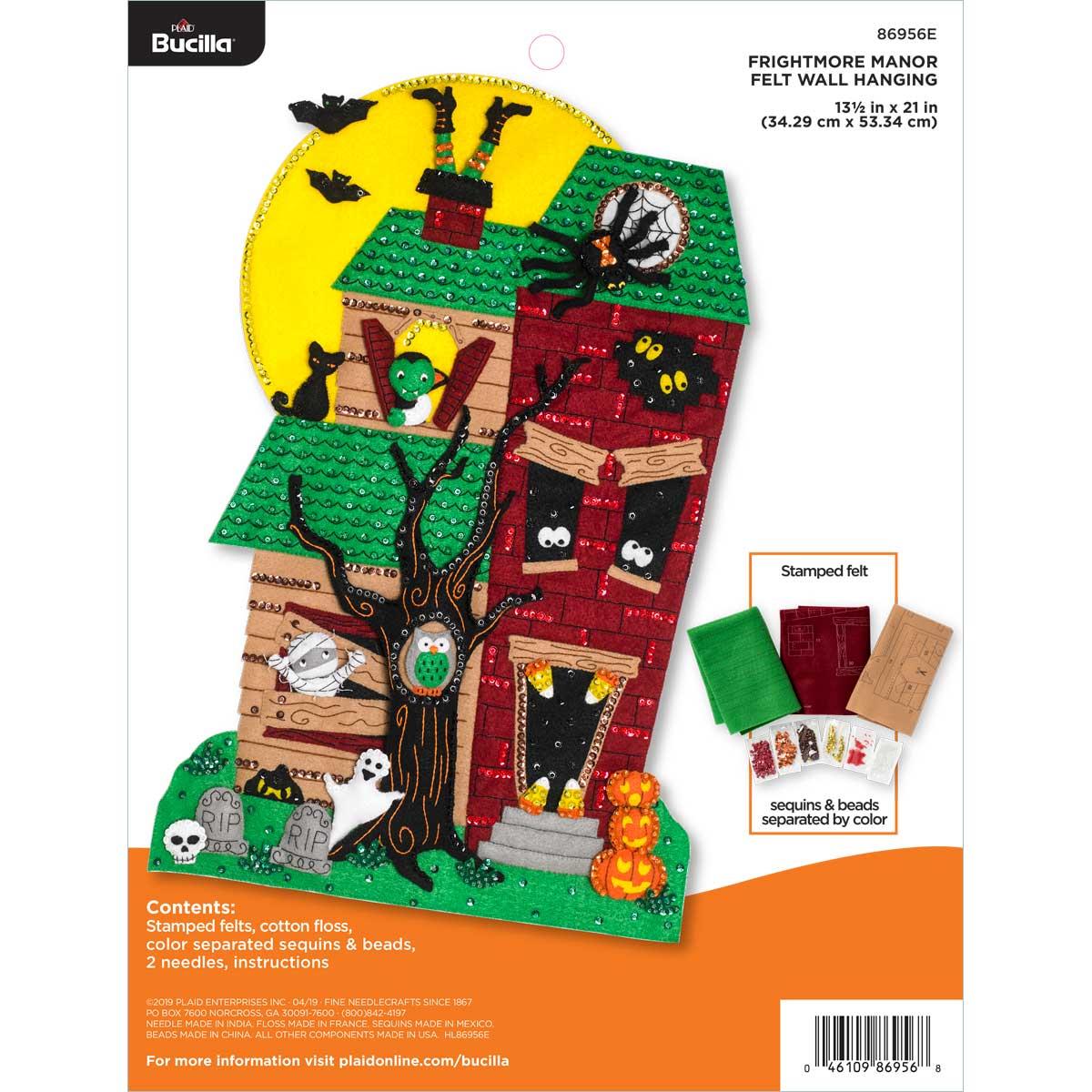 Bucilla ® Seasonal - Felt - Home Decor - Door/Wall Hanging Kits - Frightmore Manor