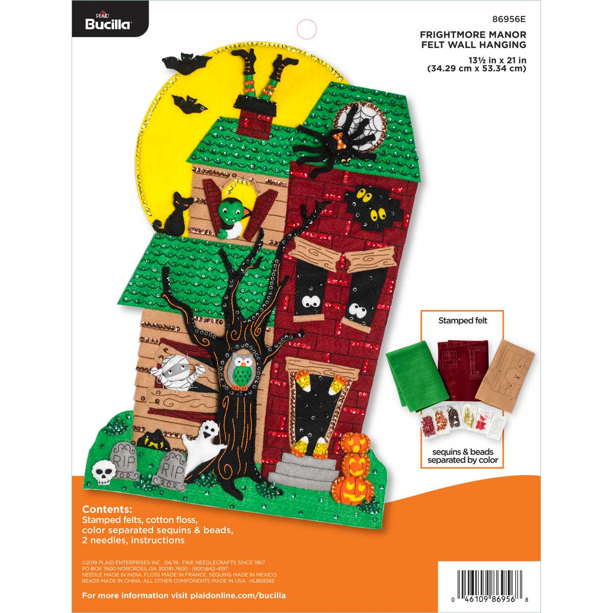 Bucilla ® Seasonal - Felt - Home Decor - Frightmore Manor Wall Hanging - 86956E