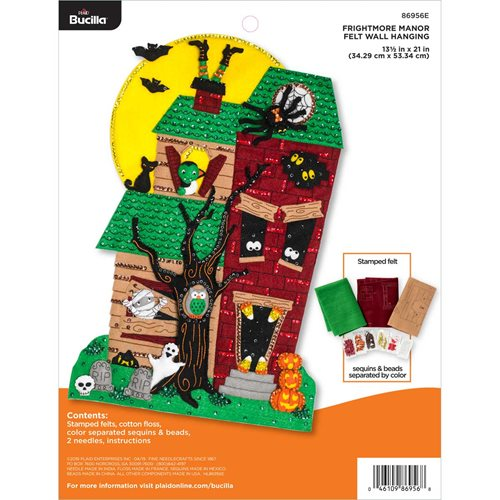 Bucilla ® Seasonal - Felt - Home Decor - Door/Wall Hanging Kits - Frightmore Manor