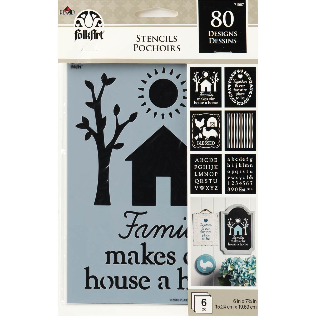 FolkArt ® Craft Stencils - Value Packs - Farmhouse