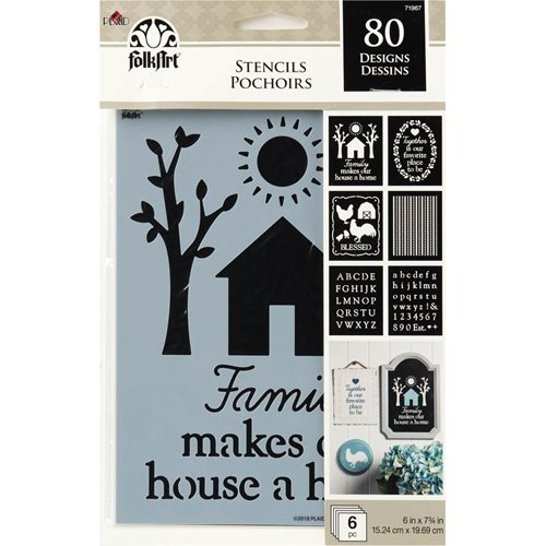 FolkArt ® Craft Stencils - Value Packs - Farmhouse - 71967