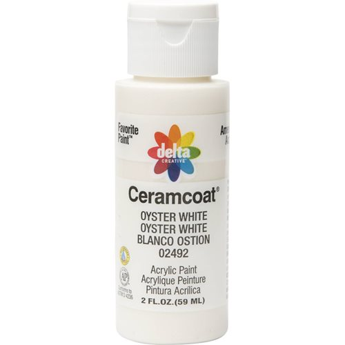 Delta Ceramcoat ® Acrylic Paint - Oyster White, 2 oz.
