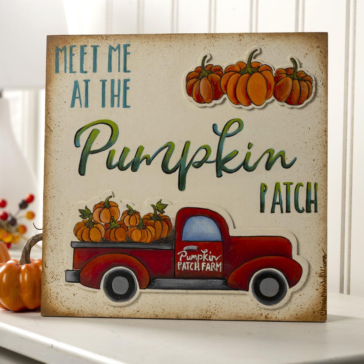 Meet Me At The Pumpkin Patch Fall Sign