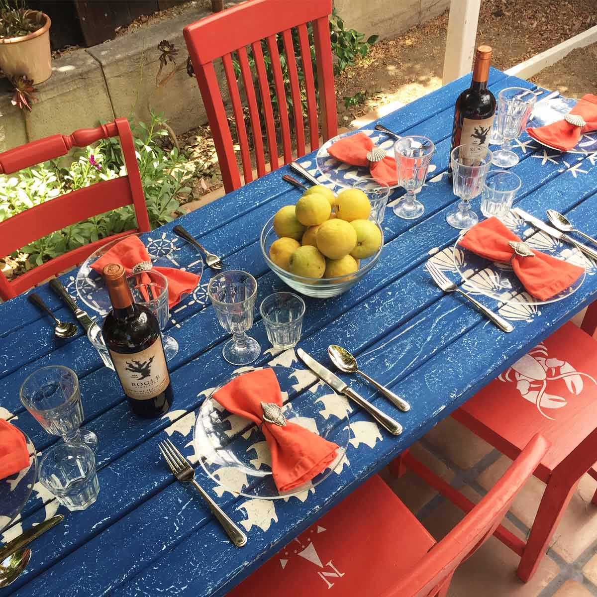Nautical Picnic Dining Table Set