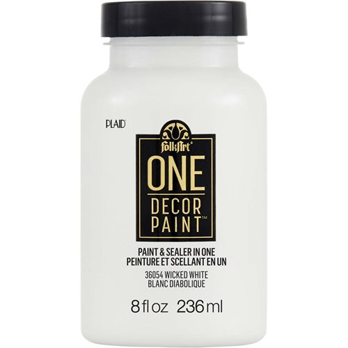 FolkArt ® One Décor Paint™ - Wicked White, 8 oz. - 36054