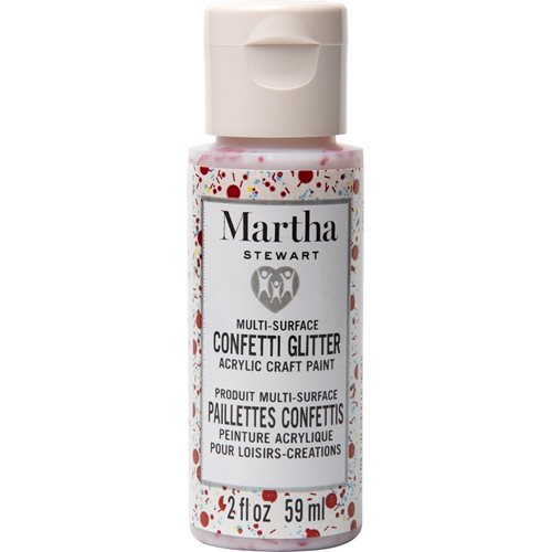 Martha Stewart ® Multi-Surface Confetti Glitter Acrylic Craft Paint CPSIA - Ruby Sunset, 2 oz. - 991
