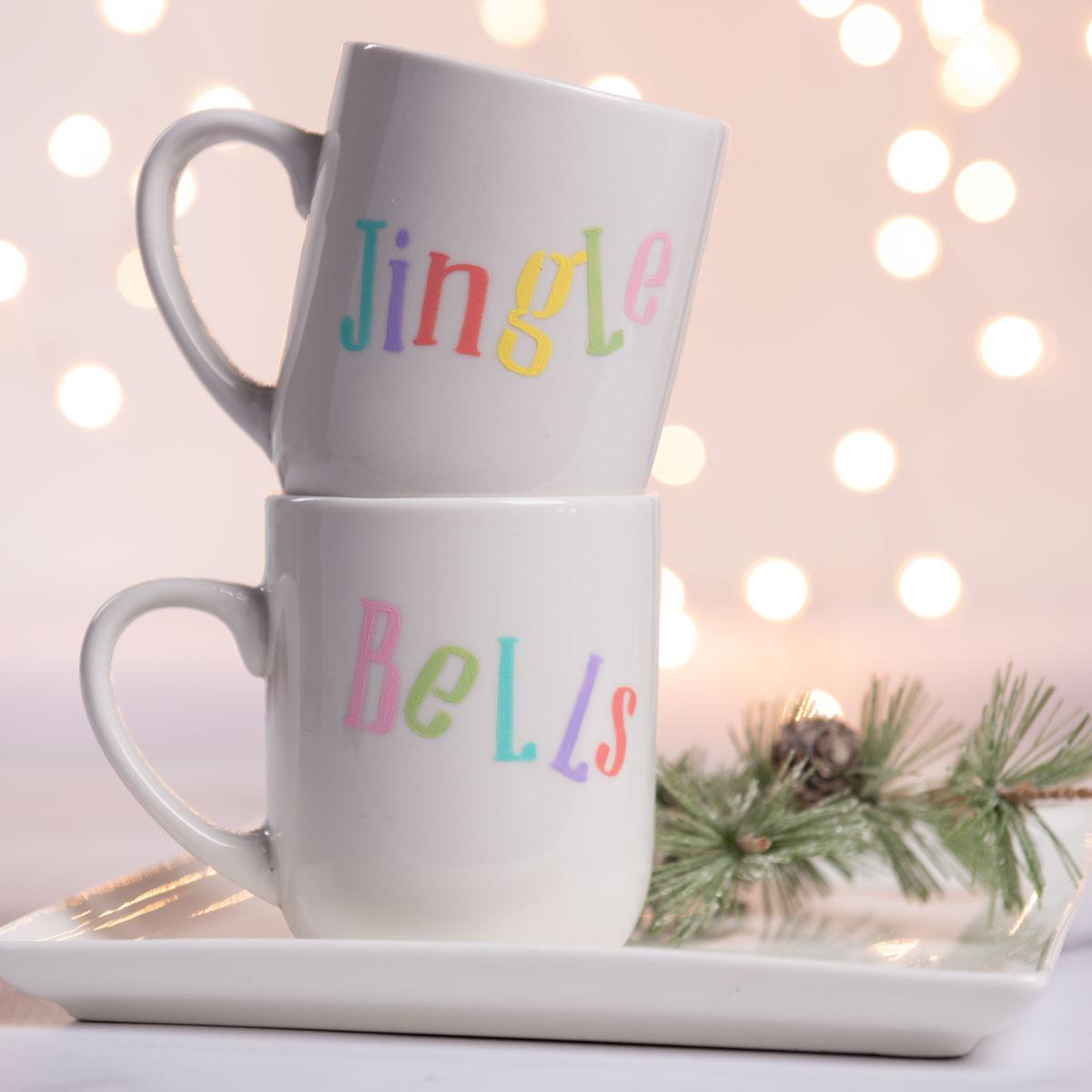 Jingle Bells DIY Painted Mugs