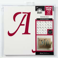 "FolkArt ® Stencil Value Packs - Wedding Monogram, 12"" x 12"""