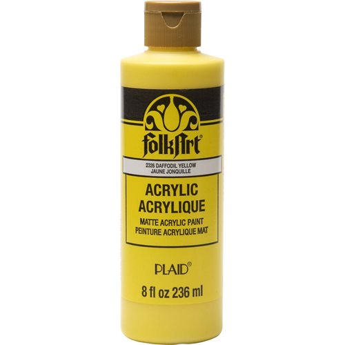 FolkArt ® Acrylic Colors - Daffodil Yellow, 8 oz. - 2326